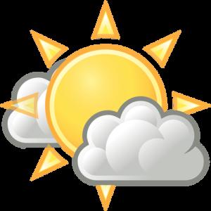 słońce za chmurką