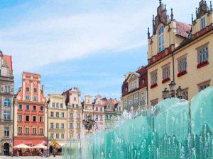 fontanna na rynku wrocławskim