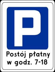 znak parkowania wrocław